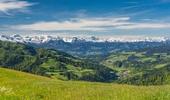 Aussicht in Richtung Alpen